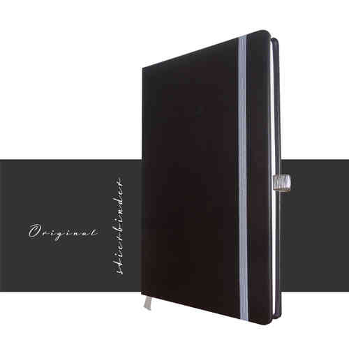 genuine leather notebook a5 black