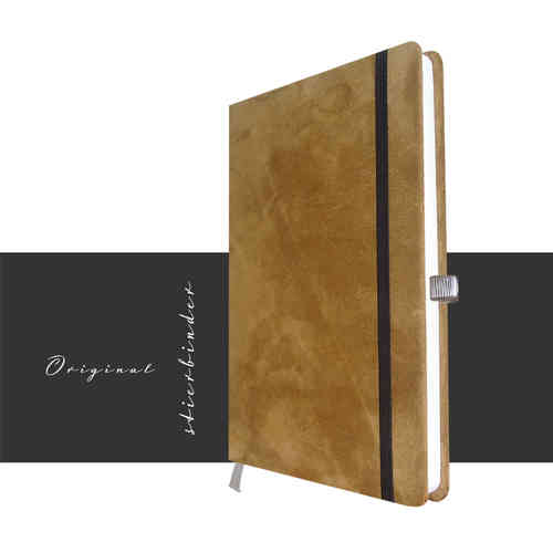 Notebook suede Leather brown A5
