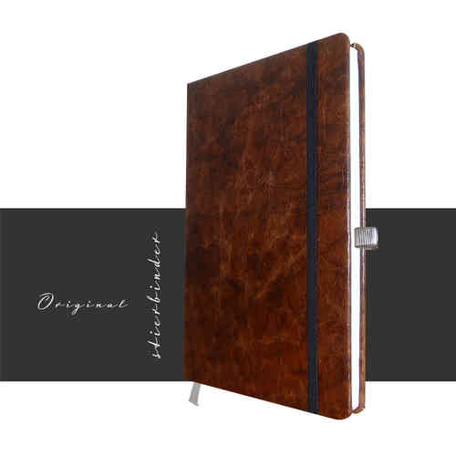 genuine leather notebook old saddle brown a5
