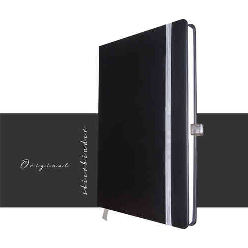 genuine nappa leather notebook A5 black
