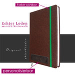 costume tracht-felt notebook A5 brown with personalization and selectable rubber