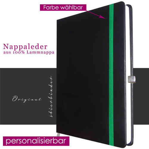 Notebook nappa Leather black A4