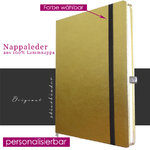 Nappa-Leder Notizbuch A4 in GOLD