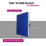 leather notebook A6 blue