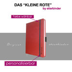 leather notebook A6 red