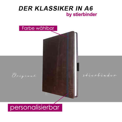 leather notebook A6 darkbrown
