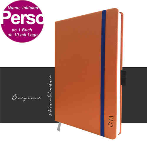 Leder Notizbuch A5 in orange