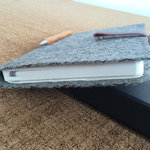 costume tracht-felt notebook A5  softcover gray with personalization and selectable rubber