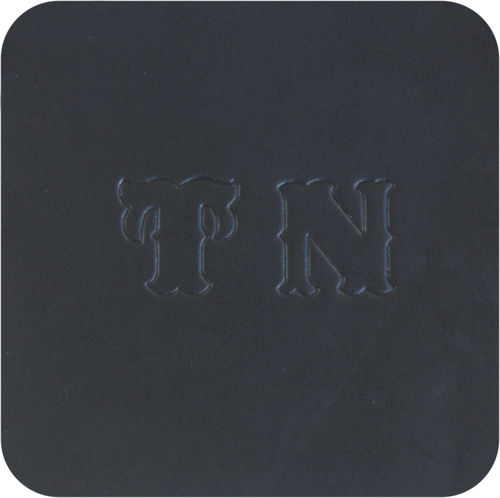 luxury leather mat - beer mat genuine leather, color black
