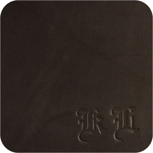 luxury leather mat - beer mat genuine leather, color brown old english