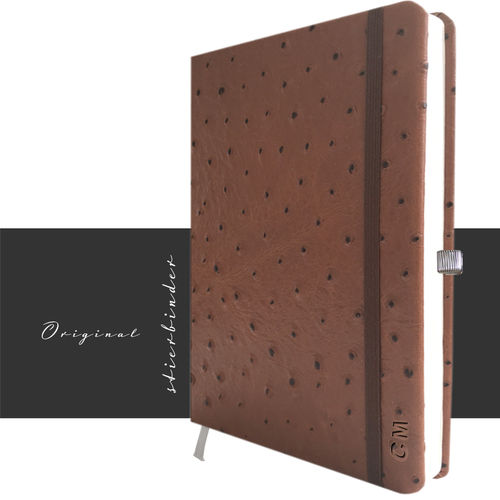 Orchid Optic Notebook Genuine Leather A4 brown
