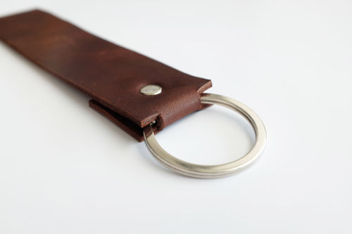 leather key ring- genuine leather