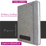 Loden Notizbuch Hardcover A4 in grau