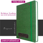 Loden Notizbuch Hardcover A4 in grün