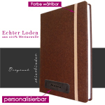 Loden Notizbuch Hardcover A4 in braun